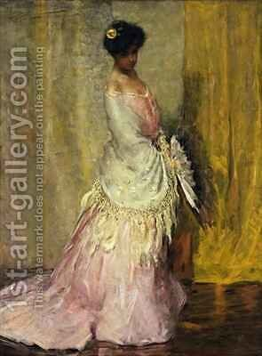 Girl in Yellow Scarf by Charles Webster Hawthorne - Reproduction Oil Painting