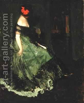 The Red Bow by Charles Webster Hawthorne - Reproduction Oil Painting