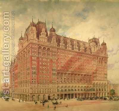 The Waldorf Astoria Hotel by Hughson Hawley - Reproduction Oil Painting