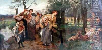 The Belle of the Village by Alice Mary Havers - Reproduction Oil Painting