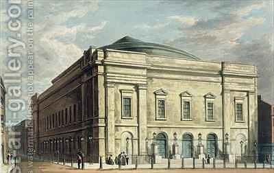 Theatre Royal Drury Lane in London by Daniel Havell - Reproduction Oil Painting