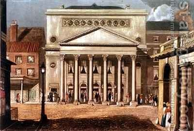 New Theatre Royal Haymarket in London by Daniel Havell - Reproduction Oil Painting