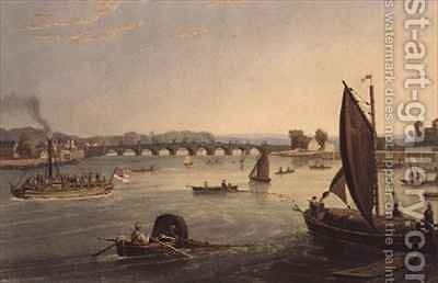 Vauxhall Bridge by Daniel and Robert Havell - Reproduction Oil Painting