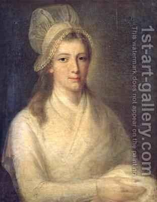 Charlotte Corday 1768-93 by Jean-Jacques Hauer - Reproduction Oil Painting