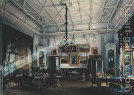 Blue Study of Emperor Alexander II 1818-81 in the Farm Palace by Eduard Hau - Reproduction Oil Painting