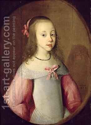 Portrait of a Young Girl by C. Hastenburg - Reproduction Oil Painting