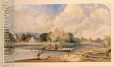 Fishing in a Punt by Edward Hassell - Reproduction Oil Painting