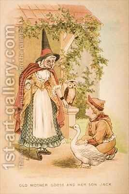 Old Mother Goose and her Son Jack by Constance Haslewood - Reproduction Oil Painting