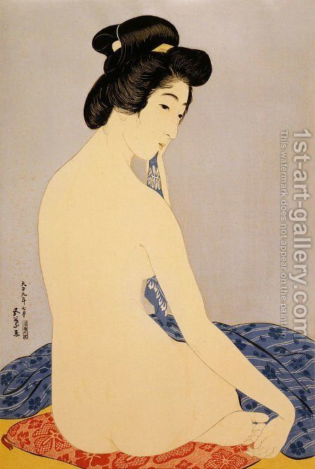 Woman after the bath by Goyo Hashiguchi - Reproduction Oil Painting