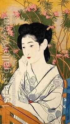 Woman at a Hot Spring Hotel by Goyo Hashiguchi - Reproduction Oil Painting