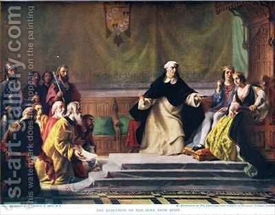 The Expulsion of the Jews from Spain from Hutchinsons History of the Nations by Solomon Alexander Hart - Reproduction Oil Painting