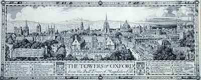 The Towers of Oxford from the Bell Tower of Magdalen College by Edmund Hart - Reproduction Oil Painting
