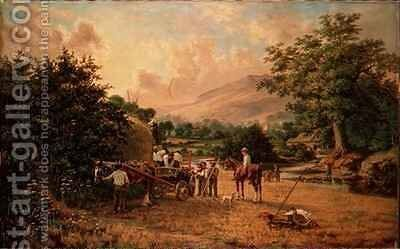 The Harvest by C.H. Hart - Reproduction Oil Painting