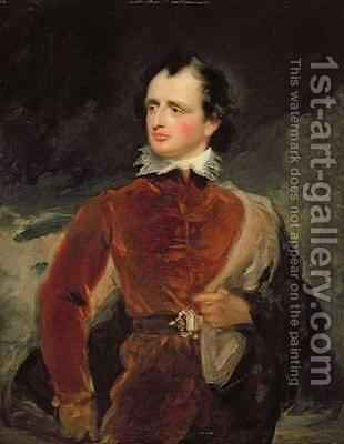 Portrait of Benjamin Robert Haydon 1786-1846 by George Henry Harlow - Reproduction Oil Painting