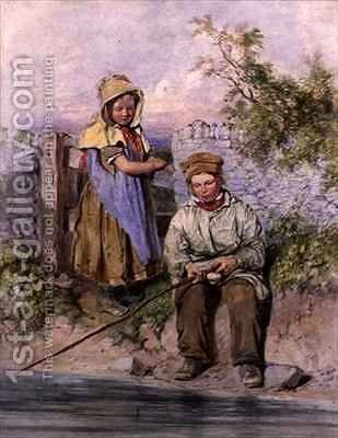 The Young Anglers by James Hardy Jnr - Reproduction Oil Painting