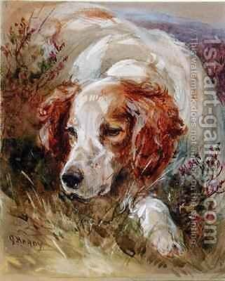 A Spaniel by James Hardy Jnr - Reproduction Oil Painting