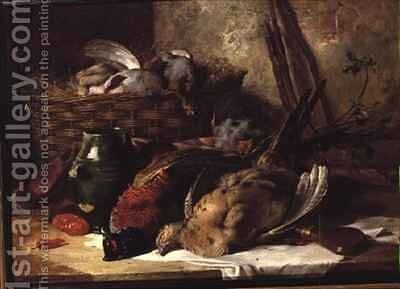 Still Life with Game Birds by James Hardy Jnr - Reproduction Oil Painting