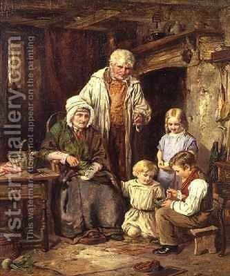 The Fledglings by James Hardy Jnr - Reproduction Oil Painting