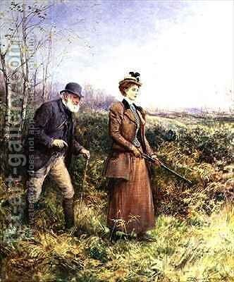 The Gun Shot by Heywood Hardy - Reproduction Oil Painting