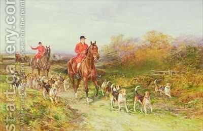 Hunting Scene by Heywood Hardy - Reproduction Oil Painting
