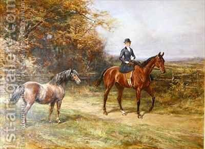 Lady Denman by Heywood Hardy - Reproduction Oil Painting