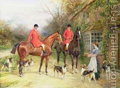 A Stop at the Fox Inn by Heywood Hardy - Reproduction Oil Painting