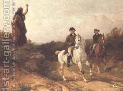 Meg Merrilies from Keats poem Old Meg she was a Gypsy by Heywood Hardy - Reproduction Oil Painting