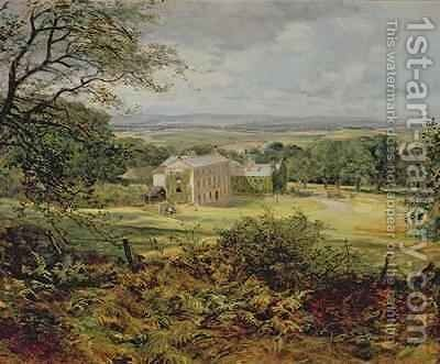 English landscape with a house by Heywood Hardy - Reproduction Oil Painting