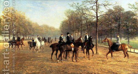 The Morning Ride Rotten Row Hyde Park by Heywood Hardy - Reproduction Oil Painting