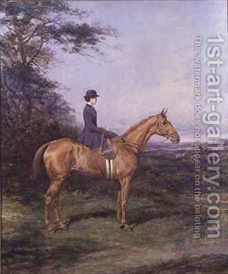 Miss A L North on Ivanhoe by Heywood Hardy - Reproduction Oil Painting