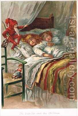 Ole Luk Oie in an edition of Fairy Tales by E.S. Hardy - Reproduction Oil Painting