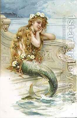 Little Mermaid by E.S. Hardy - Reproduction Oil Painting