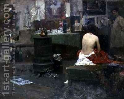 Idle Moments by Dudley Hardy - Reproduction Oil Painting
