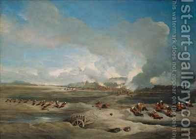 The Storming and Capture of the North Fort Peiho by (after) Hardinge, Charles Stewart - Reproduction Oil Painting