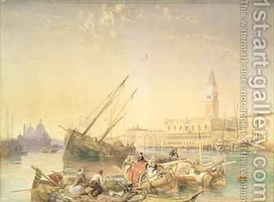 The Grand Canal Venice by James Duffield Harding - Reproduction Oil Painting