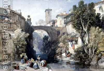 Ivrea Val dAosta by James Duffield Harding - Reproduction Oil Painting