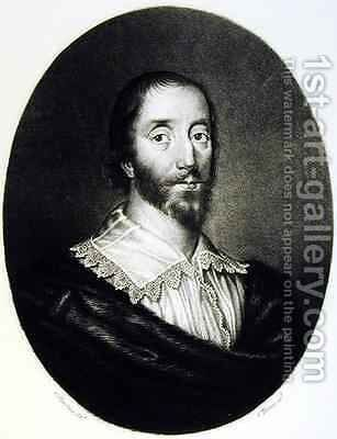 Sir Dudley Digges 1583-1639 by C. Harding - Reproduction Oil Painting