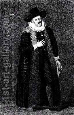 Edward Alleyne 1566-1626 by Harding - Reproduction Oil Painting
