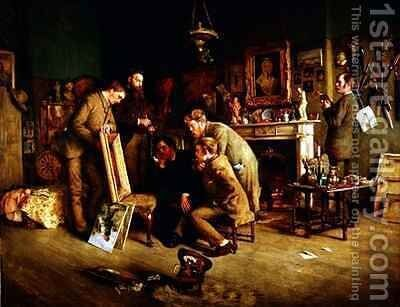 Friendly Critics by Charles Martin Hardie - Reproduction Oil Painting