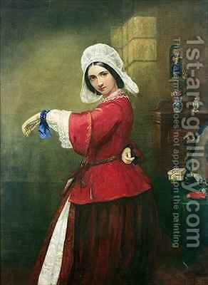 Lady in French Costume by Edmund Harris Harden - Reproduction Oil Painting