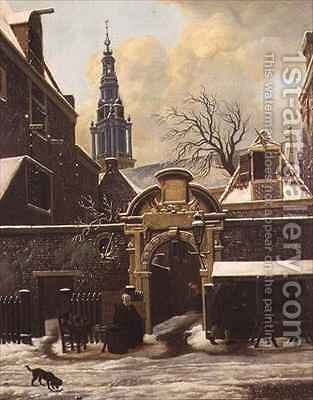 Cobbler at the Gates of the Agnieten Chapel Amsterdam by Carel Lodewijk Hansen - Reproduction Oil Painting