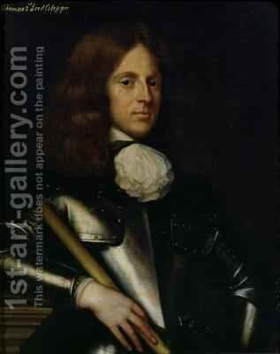 Thomas 1635-1689 2nd Lord Culpeper by Adriaen Hanneman - Reproduction Oil Painting