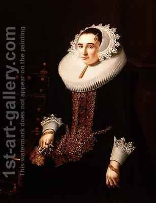 Portrait of a Lady by Adriaen Hanneman - Reproduction Oil Painting
