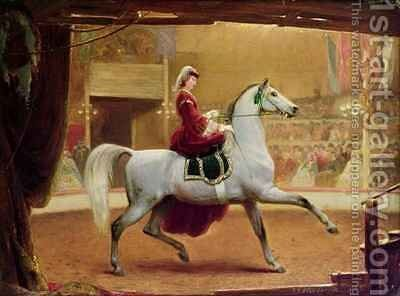The Circus Rider by Johann Jakob Eduard Handwerk - Reproduction Oil Painting