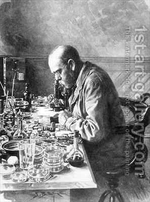Robert Koch 1843-1910 from The Illustrated London News by (after) Hancox, Frank - Reproduction Oil Painting