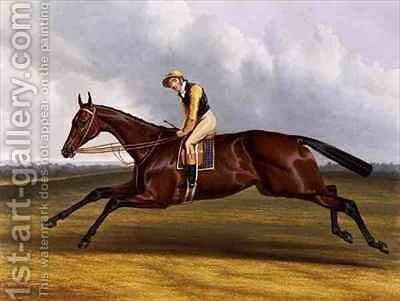 Blue Bonnet Winner of the Great St Leger Stakes at Doncaster by Charles Hancock - Reproduction Oil Painting