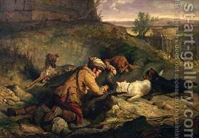 Ferreting by Charles Hancock - Reproduction Oil Painting