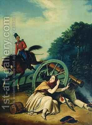 Scene from the 1812 Franco Russian War by Charles de Hampeln - Reproduction Oil Painting