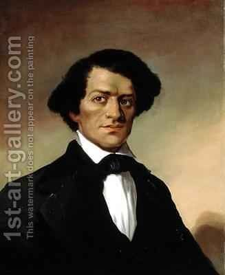 Portrait of Frederick Douglass 1818-95 by (attr. to) Hammond, Elisha - Reproduction Oil Painting