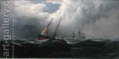 After a Gale Wrecker by James Hamilton - Reproduction Oil Painting